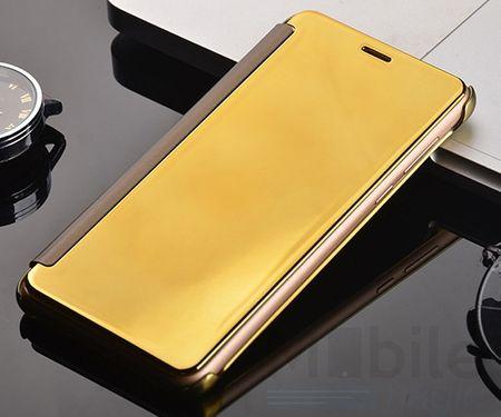 Huawei P9 Clear Window View Case Cover Spiegel Mirror Hülle GOLD – Bild 3