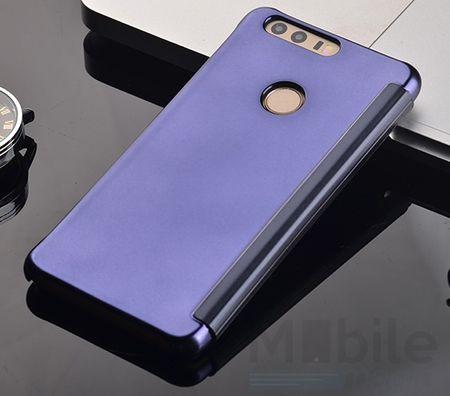 Huawei P9 Lite Clear Window View Case Cover Spiegel Mirror Hülle BLAU – Bild 3