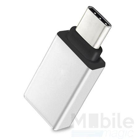 Type-C zu USB 3.0 OTG Metall Adapter SILBER – Bild 1