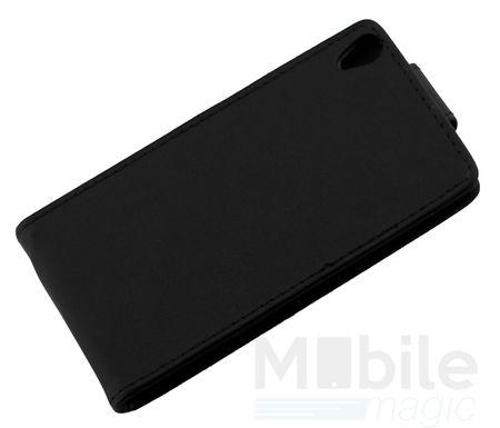 Sony Xperia E5 Leder Flip Case Cover Etui Tasche Vertikal Hülle SCHWARZ – Bild 4