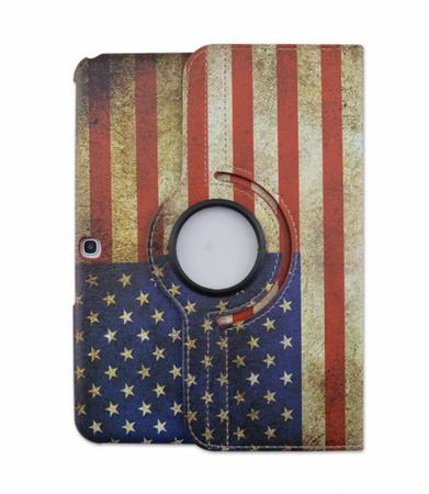 Samsung Galaxy Tab 4 10.1 360° Flip Etui Tasche Cover Leder Case USA Amerika – Bild 2
