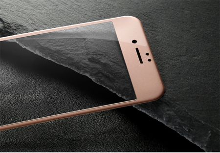 iPhone 7 RANDLOS Panzerglas Glas Schutzfolie Schutzglas Curved Tempered Glass ROSÉGOLD – Bild 2