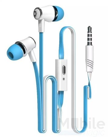 Anki In Ear Kopfhörer Headset 3.5mm mit Mikrofon BLAU