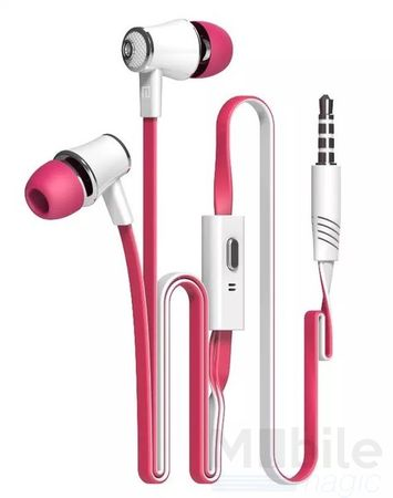 Anki In Ear Kopfhörer Headset 3.5mm mit Mikrofon PINK