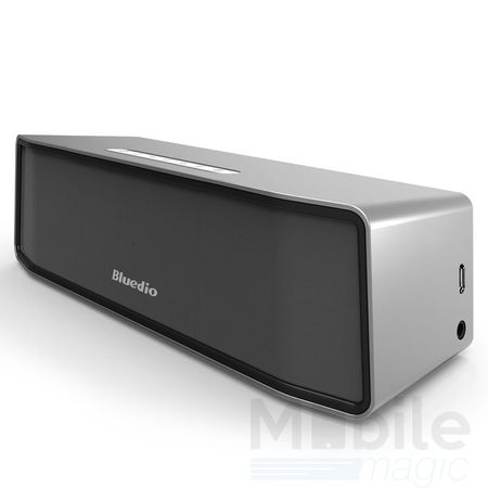 Bluedio Bluetooth Lautsprecher Speaker Schwarz Silber – Bild 1