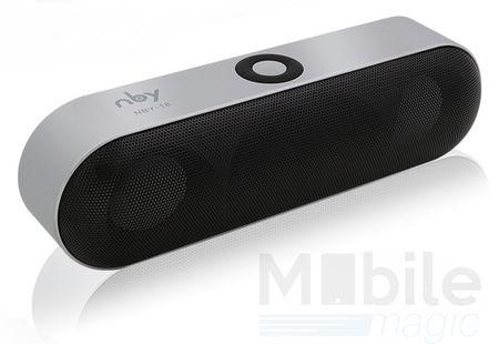 NBY Bluetooth Lautsprecher Speaker SILBER