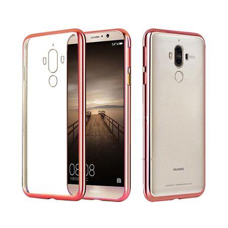 Huawei Mate 9 Metallic Gummi TPU Silikon Case Hülle Schutzhülle Cover Klar ROSÉGOLD – Bild 2
