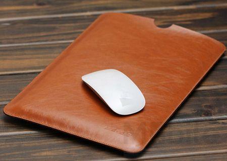 """Anki Laptop Notebook Leder Tasche Hülle 13"""" für MacBook Air 13"""" / Pro 13 Zoll Retina 2016 in BRAUN – Bild 1"""