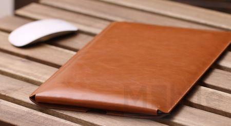 """Anki Laptop Notebook Leder Tasche Hülle 12"""" für MacBook 12 Zoll Retina in BRAUN – Bild 4"""