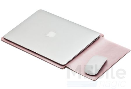 "Anki Laptop Notebook Leder Tasche Hülle 13"" für MacBook Air 13"" / Pro 13 Zoll Retina 2016 in ROSÉGOLD / PINK – Bild 1"