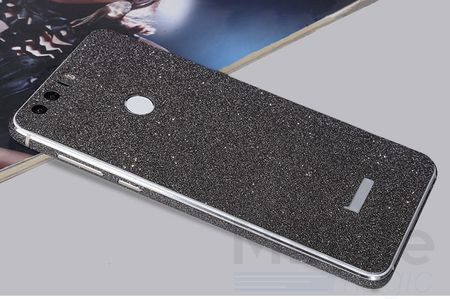 Huawei Honor 8 Full Body Glitzer Sticker Bling Skin in SCHWARZ – Bild 2
