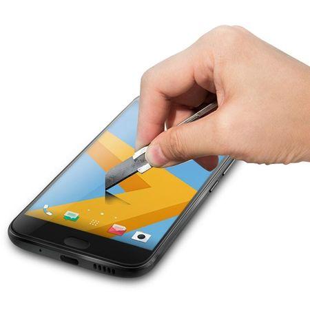 HTC 10 RANDLOS Panzerglas Glas Schutzfolie Schutzglas Curved Tempered Glass SCHWARZ – Bild 2