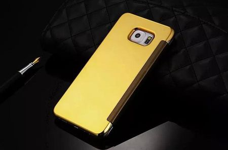 Samsung Galaxy S6 Clear Window View Case Cover Spiegel Mirror Hülle GOLD – Bild 3