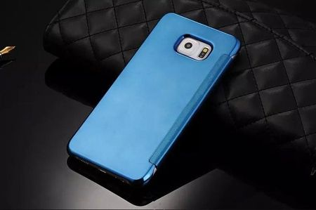 Samsung Galaxy S6 Clear Window View Case Cover Spiegel Mirror Hülle BLAU / HELLBLAU – Bild 3