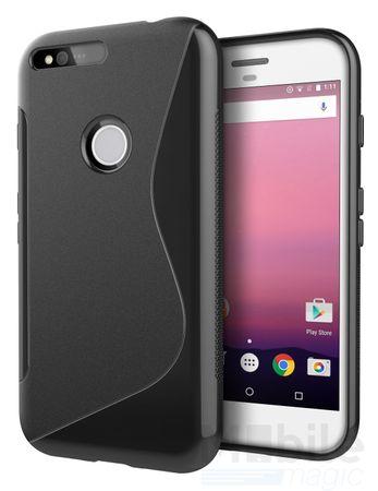 Google Pixel XL S-Line TPU Gummi Silikon Case Welle Hülle SCHWARZ – Bild 2