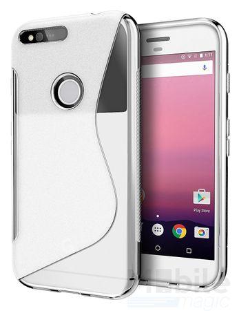 Google Pixel S-Line TPU Gummi Silikon Case Welle Hülle TRANSPARENT – Bild 2