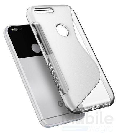 Google Pixel XL S-Line TPU Gummi Silikon Case Welle Hülle TRANSPARENT – Bild 1
