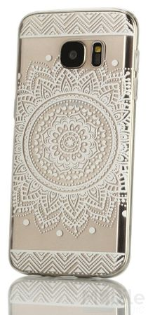 Huawei Mate 9 Indian Mandala Gummi TPU Silikon Case Hülle TRANSPARENT WEISS