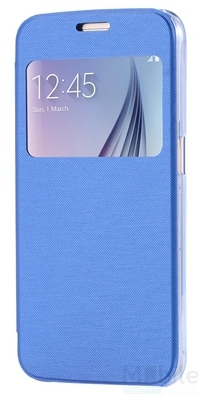 Huawei P9 Window View Cover Flip Etui Fenster Hülle Leder Case Tasche BLAU