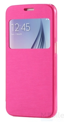 Huawei P9 Window View Cover Flip Etui Fenster Hülle Leder Case Tasche PINK / ROSA