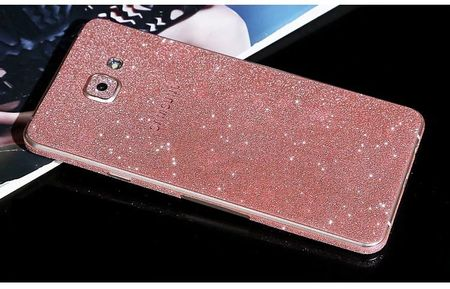 Samsung Galaxy A5 2016 Full Body Glitzer Sticker Bling Skin in ROSÉGOLD / PINK – Bild 1