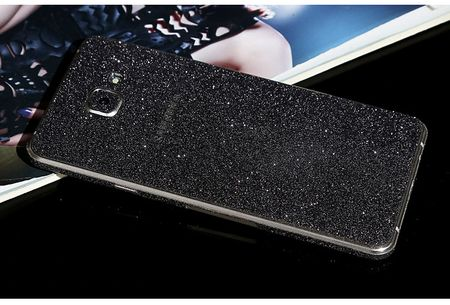 Samsung Galaxy A5 2016 Full Body Glitzer Sticker Bling Skin in SCHWARZ – Bild 1