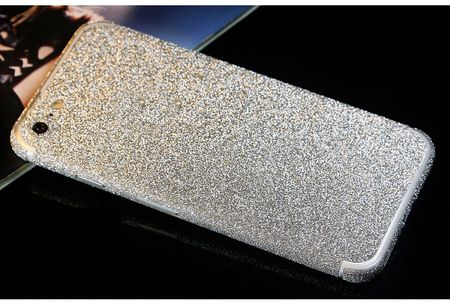 iPhone 7 Full Body Glitzer Sticker Bling Skin in SILBER – Bild 1