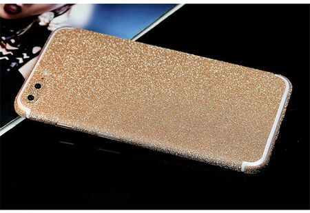 iPhone 7 Plus Full Body Glitzer Sticker Bling Skin in GOLD / CHAMPAGNE – Bild 1