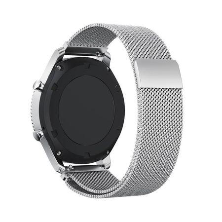 Samsung Gear S2 Classic ANKI Milanaise Edelstahl Armband SILBER – Bild 1