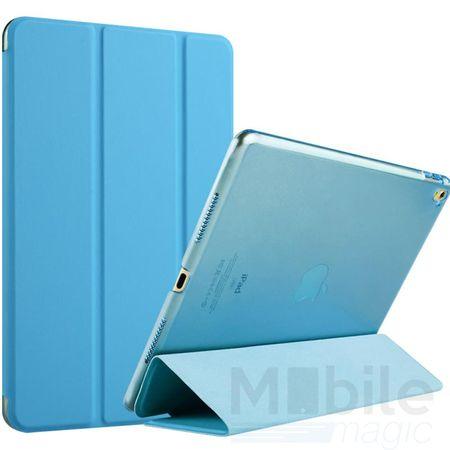 """iPad Pro 9.7"""" Smart Etui Leder Hülle Case Tasche BLAU / SKYBLUE / HELLBLAU"""
