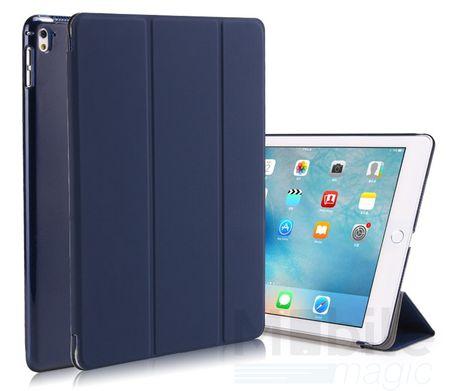 iPad Air 2 Smart Etui Leder Hülle Case Tasche BLAU / DUNKELBLAU
