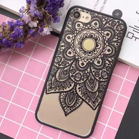 iPhone 7 Plus Lace Rüschchen Mandala Henna Gummi TPU Silikon Case Cover Hülle