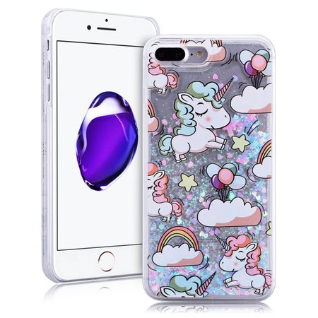 iPhone 7 Plus Einhorn Unicorn Liquid Quicksand Case – Bild 1