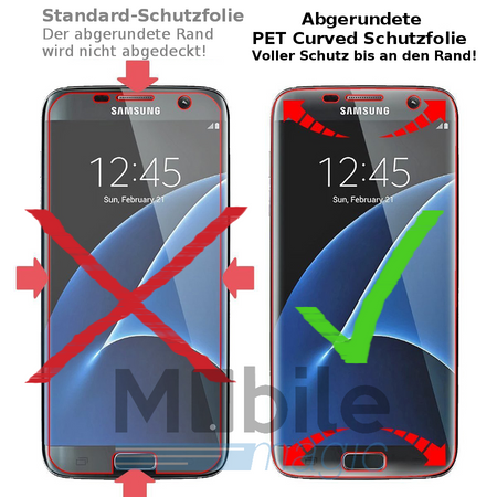 Samsung Galaxy S6 Edge PLUS Abgerundete PET Schutzfolie Curved ULTRA CLEAR Display Folie Klar – Bild 3