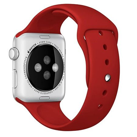 Apple Watch 38mm Series 1 / 2 Silikon Armband M/L ROT – Bild 2