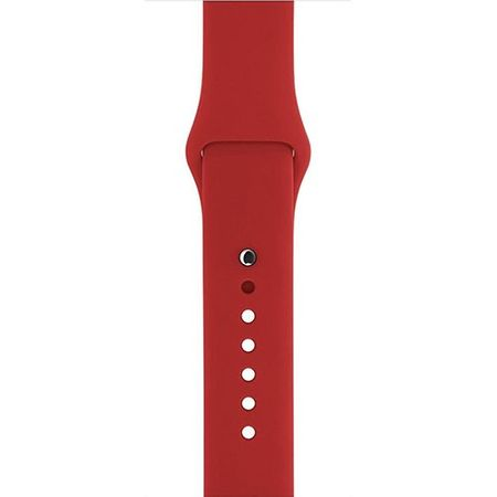 Apple Watch 38mm Series 1 / 2 Silikon Armband M/L ROT – Bild 4