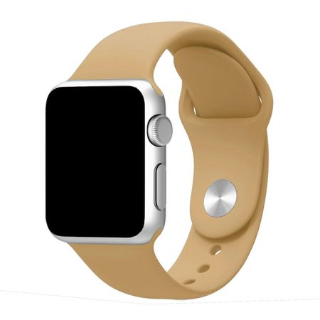 Apple Watch 38mm Series 1 / 2 Silikon Armband M/L BRAUN – Bild 1