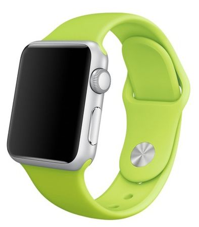 Apple Watch 42mm Series 1 / 2 Silikon Armband S/M GRÜN – Bild 1