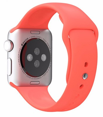 Apple Watch 42mm Series 1 / 2 Silikon Armband S/M PINK Rosa – Bild 2