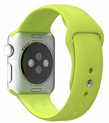 Apple Watch 38mm Series 1 / 2 Silikon Armband S/M GRÜN – Bild 2