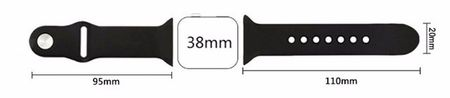 Apple Watch 38mm Series 1 / 2 Silikon Armband S/M ORANGE – Bild 3