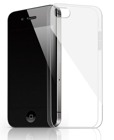 iPhone 4S / 4 TPU Gummi Hülle Klar Silikon Crystal Clear Case TRANSPARENT – Bild 1
