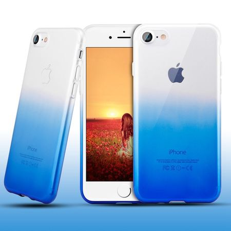 iPhone 6S / 6 Gummi TPU Silikon Clear Case Hülle Klar BLAU TRANSPARENT – Bild 1