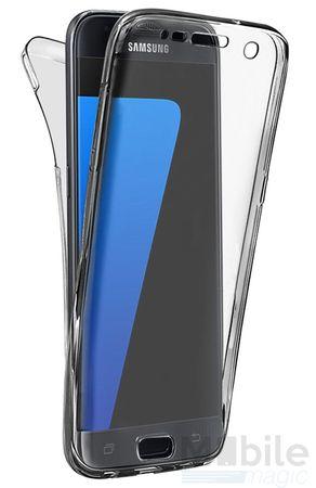 Samsung Galaxy A3 2017 TPU Gummi 360° Hülle RUNDUM Schutz Silikon Klar TRANSPARENT – Bild 1