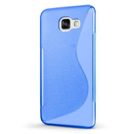Samsung Galaxy A3 2017 S-Line TPU Gummi Silikon Case Welle Hülle BLAU – Bild 2