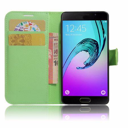 Samsung Galaxy A3 2017 Flip Etui Leder Case Tasche Hülle mit Kartenfach GRÜN – Bild 2