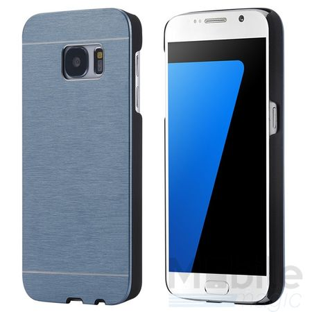 Samsung Galaxy A3 2017 Aluminium Metall Brushed Hard Case Cover Hülle BLAU – Bild 3
