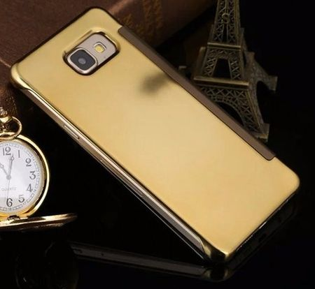 Samsung Galaxy A3 2017 Clear Window View Case Cover Spiegel Mirror Hülle GOLD – Bild 4