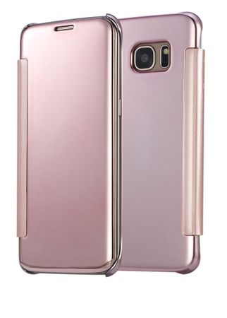 Samsung Galaxy A3 2017 Clear Window View Case Cover Spiegel Mirror Hülle ROSÉGOLD Pink – Bild 1