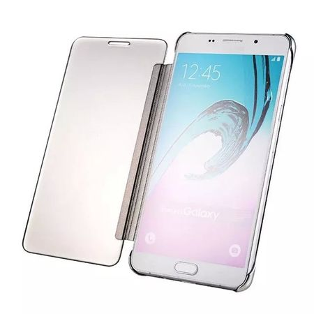 Samsung Galaxy A3 2017 Clear Window View Case Cover Spiegel Mirror Hülle SILBER – Bild 4